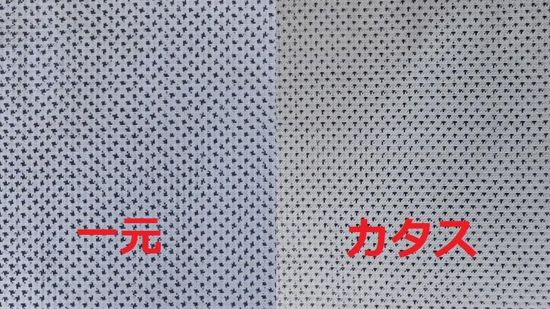 絣の形状の比較