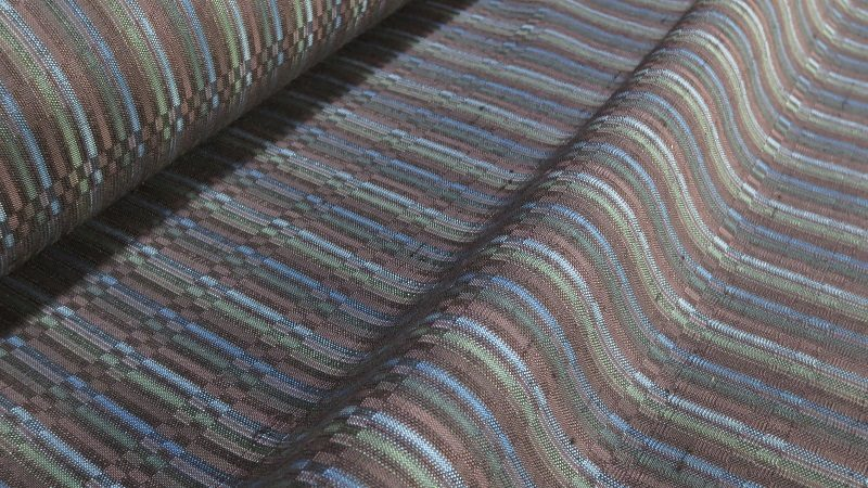 藍色の綾織着尺