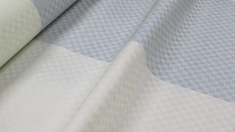 ツートンカラーの綾織着尺