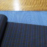 大島紬の試織 生糸以外で織ってみる
