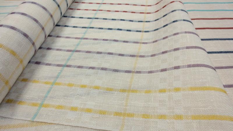カラフルな下井紬の帯