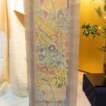 パリッとした生々紬の型絵染帯