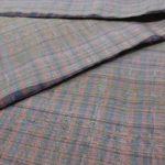 残糸で織られたユニーク柄の大島紬