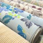 生々紬の繊細な更紗柄 九寸染帯