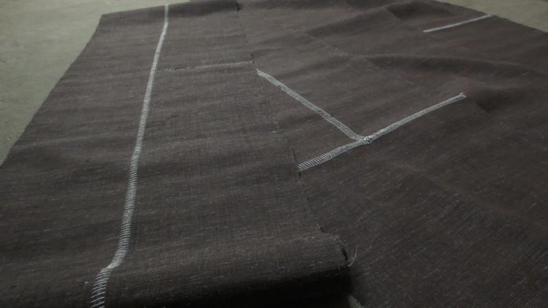 は縫いされた結城紬