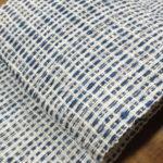 きびそ糸で織り上げた工芸帯