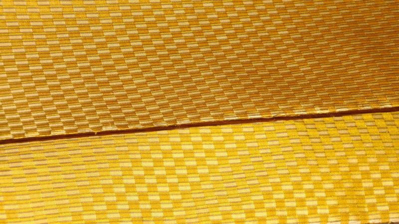 黄色い市松の黄八丈