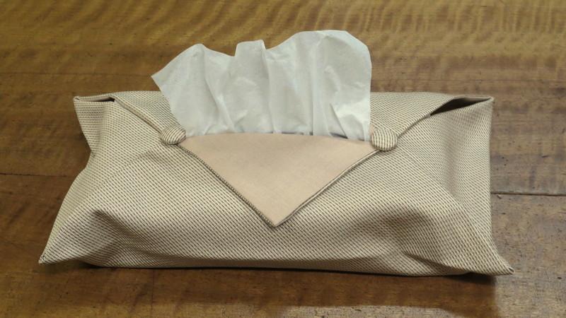 織物のティッシュケース
