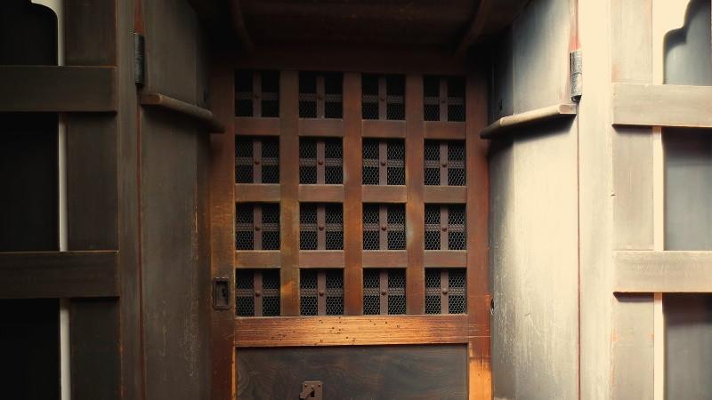 廣田紬の蔵の正面