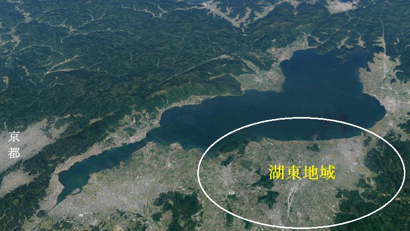 琵琶湖の地図