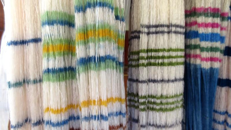 カラフルな染糸