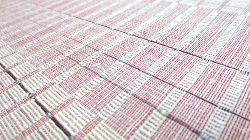 白と赤の織帯