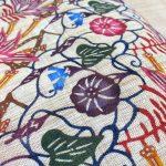 芭蕉布に琉球紅型を施す贅