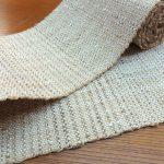 5種類の糸を使った草木染半巾帯