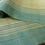 翠緑に輝く宮古上布の帯